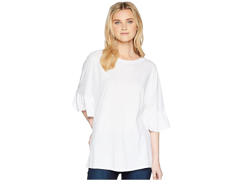 LAmade Erin Ruffle Sleeve Tee (White) Women's T Shirt