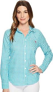 U.S. POLO ASSN. Women's Long Sleeve Plaid Poplin Blouse Blouse