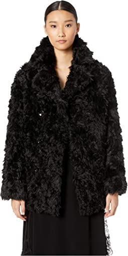 Fake Fur with Monochrome Bouclé