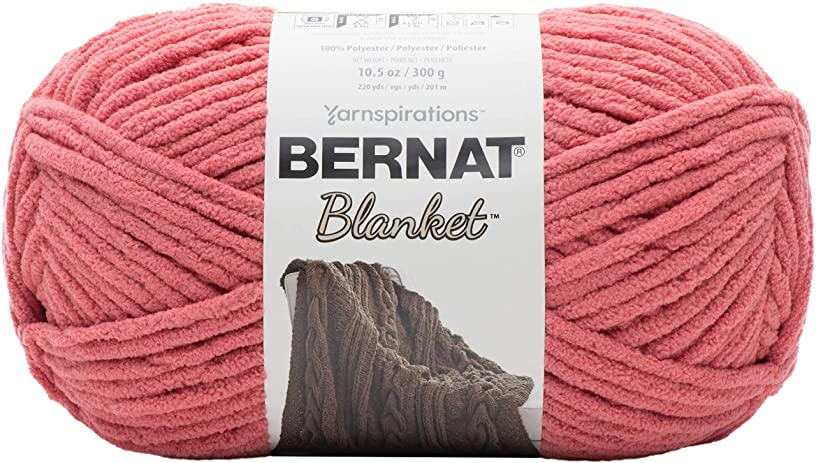 Bernat Blanket Yarn, 10.5 oz, Terracotta Rose, 1 Ball