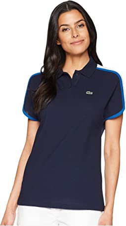 Lacoste Short Sleeve Crepe Pique Made In France Polo