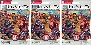 Halo Mega Bloks Series 8 (3 Packs) Mini Figure Blind Bags (Total of 3 Packs)