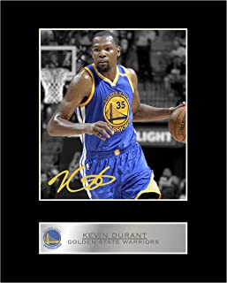 iconic pics Kevin Durant Signed Mounted Photo Display Golden State Warriors