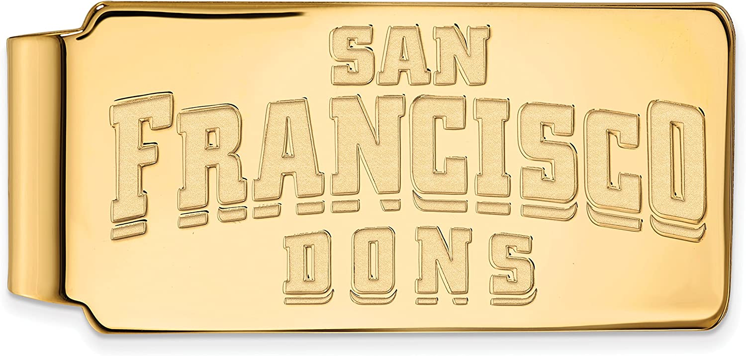 Great interest University of San Francisco Dons School Max 70% OFF Name Gold Clip Money in