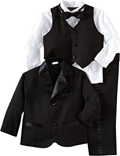 Rafael Collection Little Boys 5 Pc Silver Embroidery Tailed Tuxedo 2-7