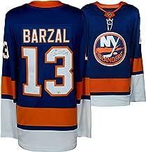Mathew Barzal New York Islanders Autographed Blue Fanatics Breakaway Jersey - Fanatics Authentic Certified