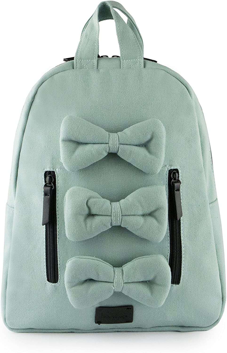 7AM Voyage Mini Bows Cotton Backpack, Toddlers, Kids and Teens School Backpack (Aqua)