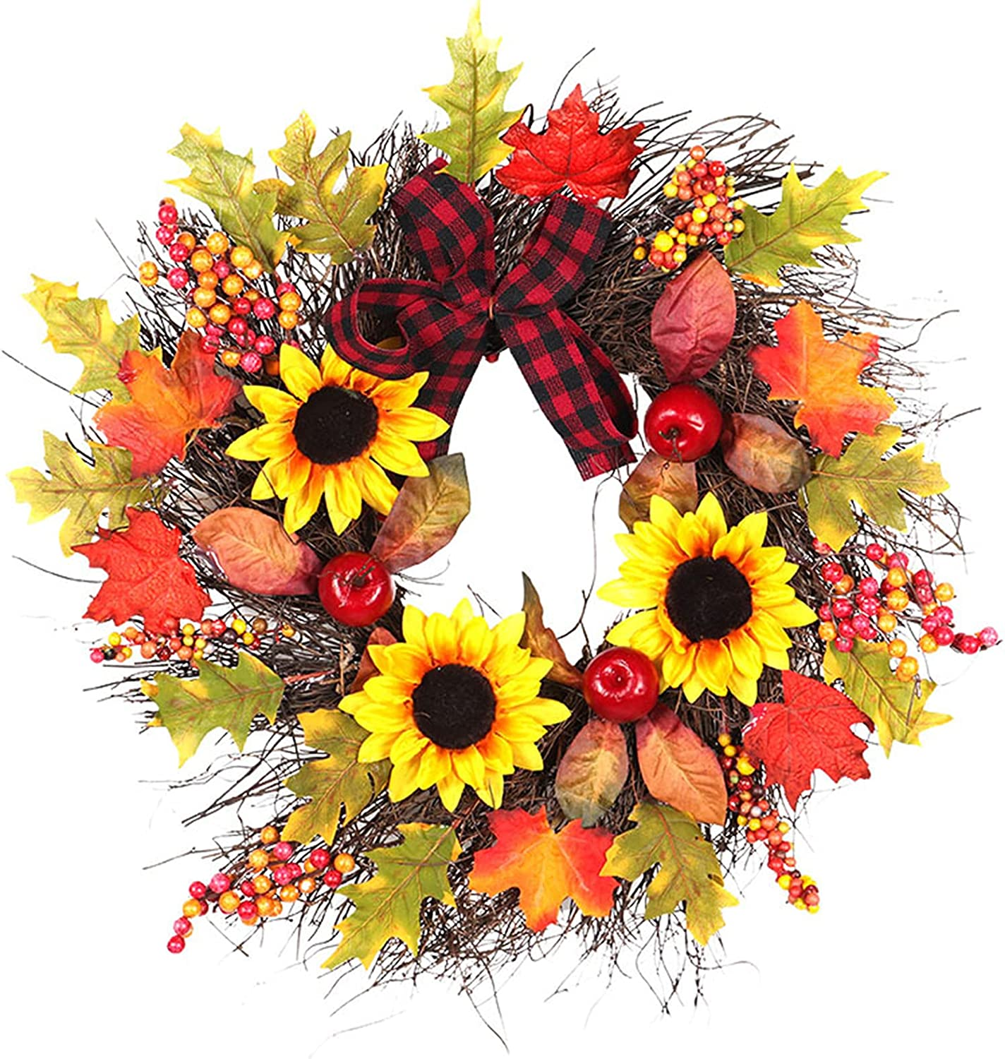Year-end annual account Mrs Bad Autumn Same day shipping Wreath for Door Decoration Fall Front