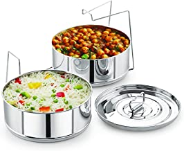 Stackable Stainless Steel Insert Pans - 6QT- Inserts for Instant Pot - Pan for Instapot - Accessories for Instant Pot- FIT...