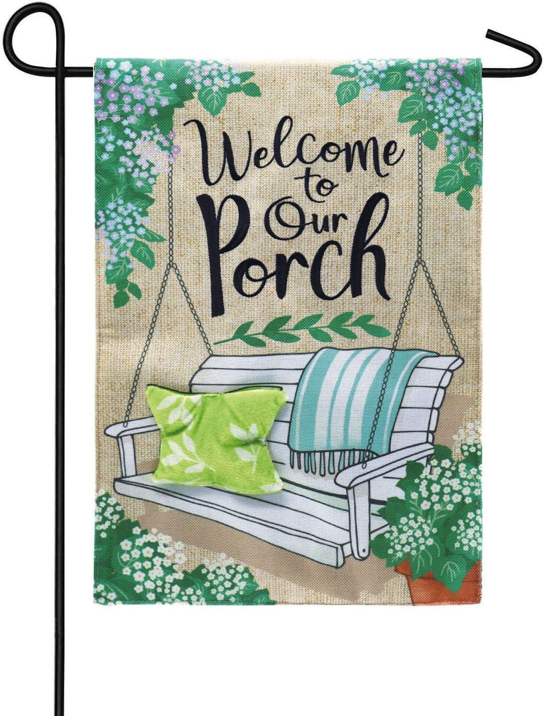Porch Swing Welcome Garden Burlap Flag - x 1 Trust 13 Inches Regular store 18