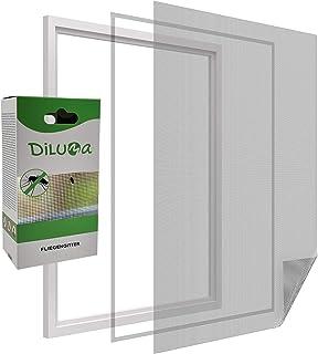 PROHEIM Vliegengaas voor ramen, vliegennet van polyester met 5,6 m klittenband, klamboe, doorzichtig en individueel in te ...