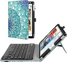 Fintie Keyboard Case for Mini 5th Gen 2019 / iPad Mini 4 - [Corner Protection] Folio Stand Cover w/Pencil Holder, Removable Wireless Bluetooth Keyboard for iPad Mini 5 / Mini 4, Emerald Illusions
