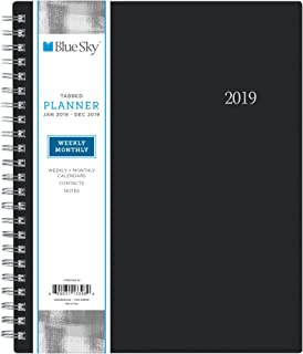 Blue Sky 2019 Weekly & Monthly Planner, Flexible Cover, Twin Wire Binding, 7