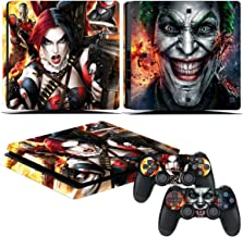 EBTY-Dreams Inc. - Sony Playstation 4 Slim (PS4 Slim) - Batman DC Universe Harley Quinn Joker Vinyl Skin Sticker Decal Protector
