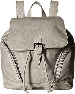 Mixed Media Pebble Grain Backpack