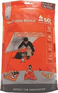 S.O.L Survive Outdoors Longer Multi-Use Sport Utility Blanket, 5 x 7 feet