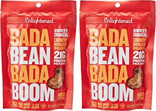 Enlightened Bada Bean Bada Boom Roasted Broad Bean Snacks, Sriracha, 2 x 85 gm