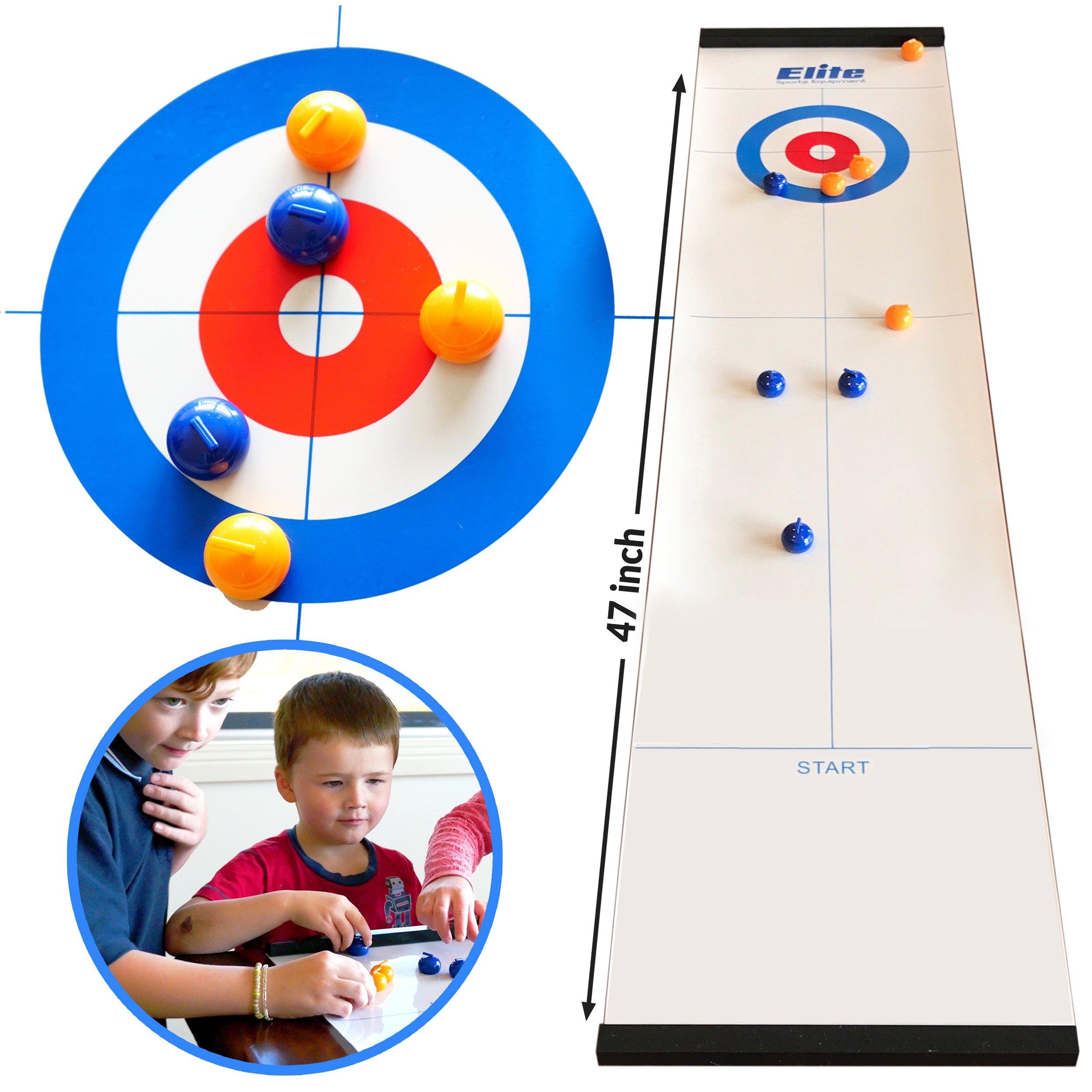 Elite Sportz Curling - Juegos de Mesa con la Familia - Juegos Divertidos para niños y Adultos: Amazon.es: Juguetes y juegos
