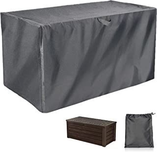 EPCOVER Patio Deck Box Cover to Protect Large Deck Boxes, All Weather Extra Large Patio Outdoor Pond Storage Deck Box Cover, Heavy Duty Waterproof(52 x 26 x 26 in)