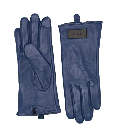 Calvin Klein Basic Leather Touch Gloves (Night Oil) Over-Mits Gloves