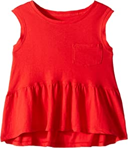 Flounce Pocket Tank Top (Big Kids)