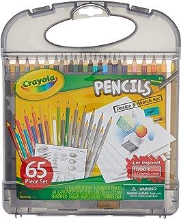 Crayola Colored Pencils Design & Sketch Set, Gift for Kids, 65 Pieces