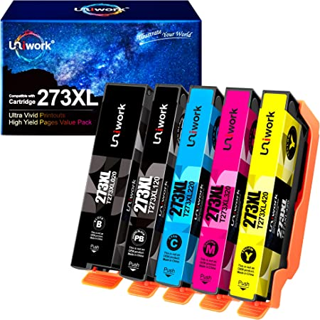 Uniwork Remanufactured Ink Cartridge Replacement for Epson 273 XL 273XL use for Expression XP-520 X-P820 XP-620 XP-610 XP-800 XP-810 Printer, 5-Pack (Black, Photo Black, Cyan, Magenta, Yellow)