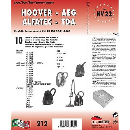 Elettrocasa hv25x10 bolsas hoover