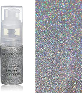 30 Grams ✮ Holographic Glitter Spray ✮ Cosmetic Grade ✮ Makeup Face Body Nail Festival Rave Beauty Craft ✮ (Silver)