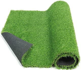 ECO MATRIX Artificial Grass Rug Fake Grass Carpet Green Lawn Mats Realistic Indoor Outdoor Grass Runner Landscape Synthetic Grass Turf for Dog Training and Pet Area (3.3'x6.6')