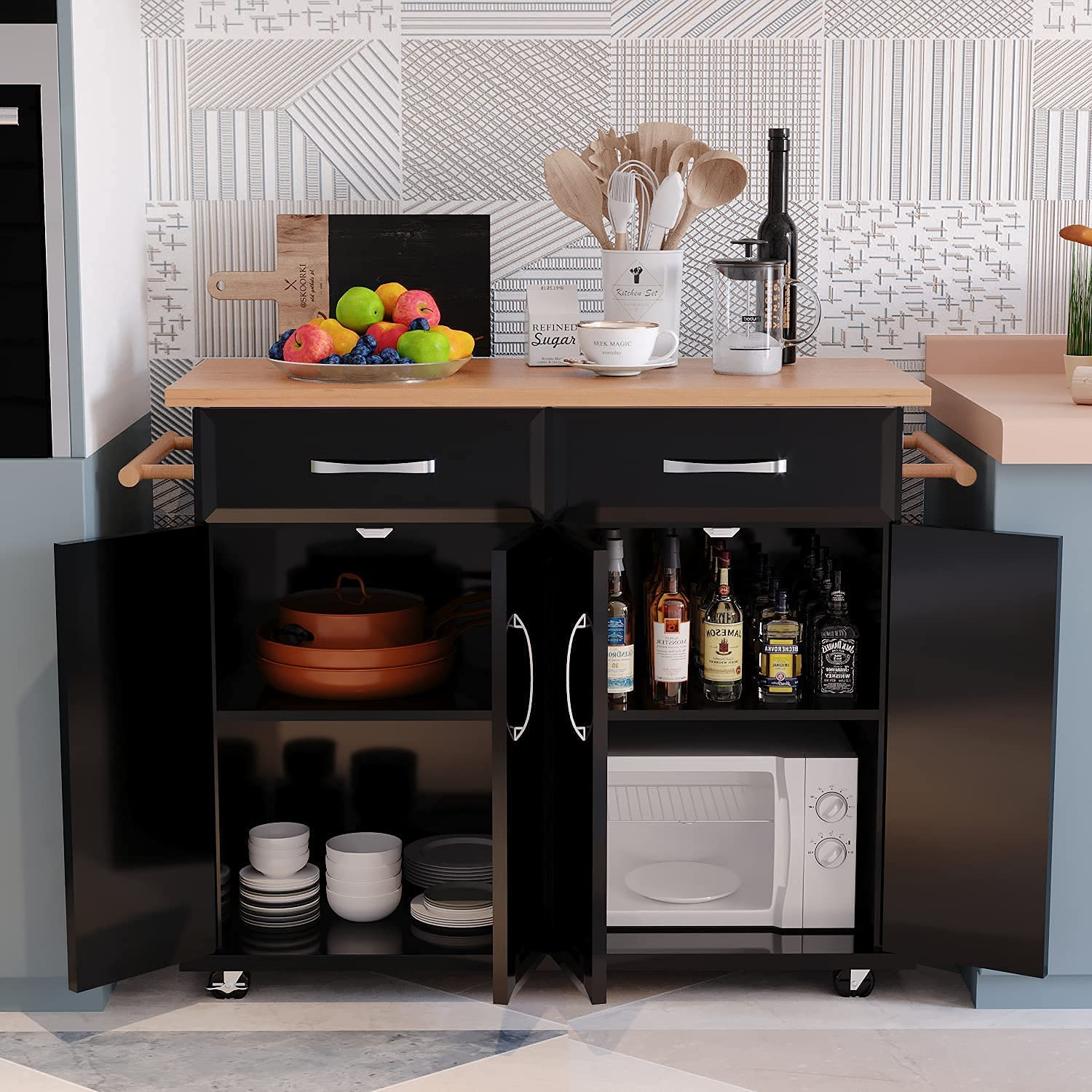 Finally popular brand 4 EVER WINNER Kitchen Island Drawers Storage SEAL limited product Kitch Rolling with