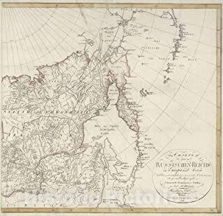 Historic Map - 1817 XXXV. Russian Empire in Europe and Asia (Eastern Sheet). - Vintage Wall Art - 36in x 36in