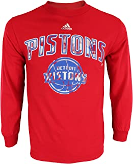 adidas NBA Mens Athletic Basic Graphic Long Sleeve Tee, Team Options