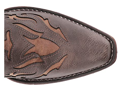 Faux Spade Leather Faux Brown VampTan Vamp Leather Roper cqUvPAwxTq