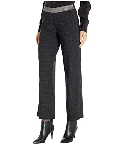 HUE Houndstooth Wide Leg Leggings (Black) Women