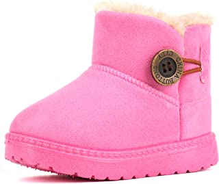Femizee Kids Boys Girls Winter Snow Boots Warm Outdoor Boots(Toddler/Little Kid)