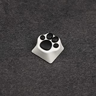 Metal Keycap Cat Claw Cat Palm Novelty Keycaps for Cherry MX Mechanical Keyboard (White Base Black Claw)