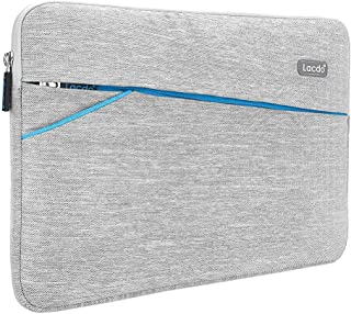 """Lacdo 13 Inch Waterproof Laptop Sleeve Case Compatible MacBook Pro 13.3-inch Retina 2012-2015 / Old MacBook Air 13"""" / iPad Pro/Surface Book/ASUS ZenBook HP Chromebook Bag Carrying Case Gray"""