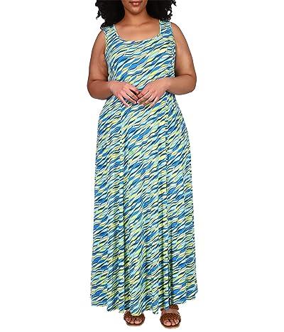 MICHAEL Michael Kors Plus Size Wave Maxi Tank Dress