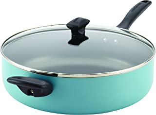 Farberware 21946 Dishwasher Safe Nonstick  Jumbo Cooker/Saute Pan with Helper Handle - 6 Quart, Blue