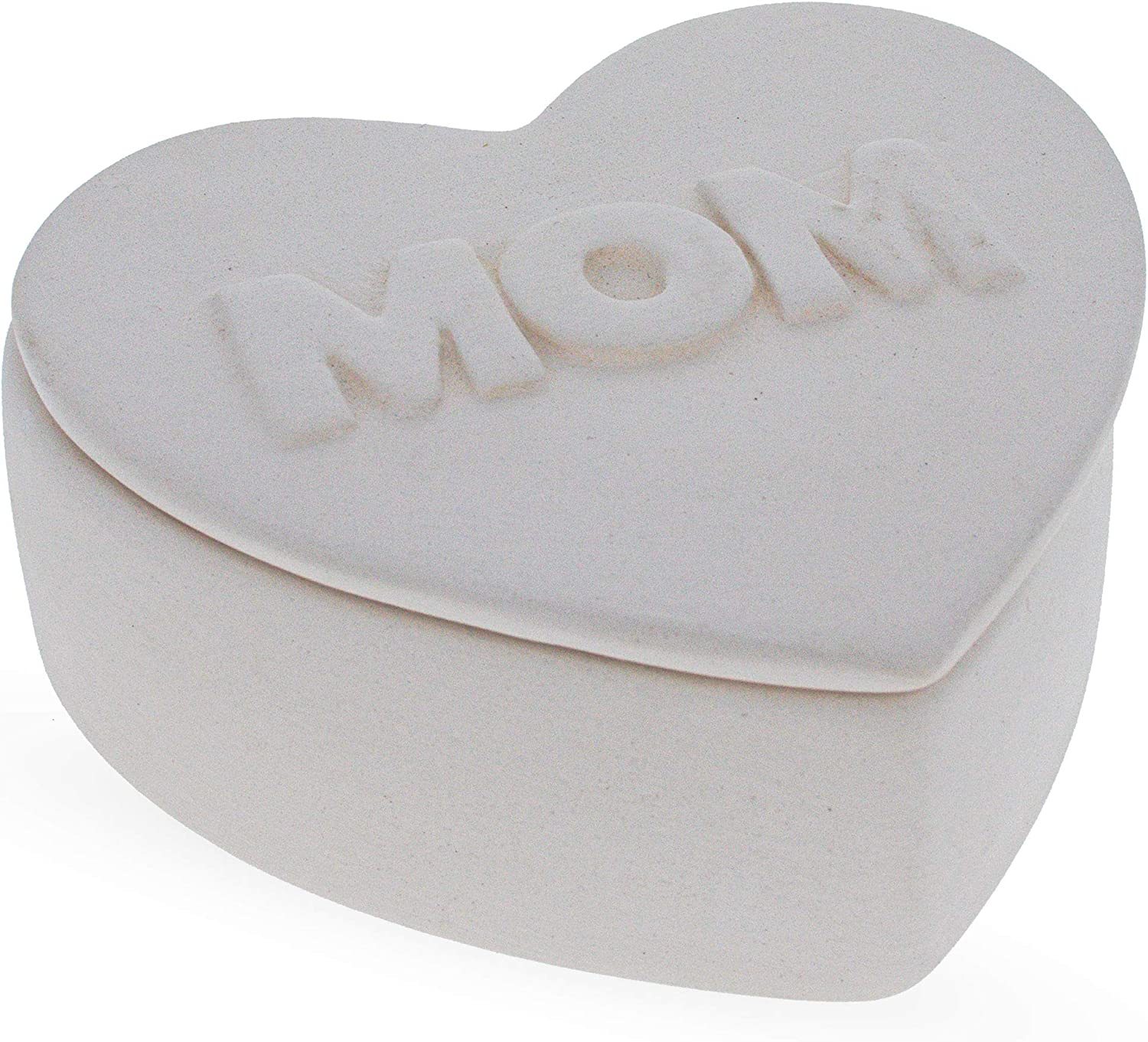 Cheap SALE Start Blank Unpainted Ceramic DIY Mom Box Inches Trinket 70% OFF Outlet 3.8