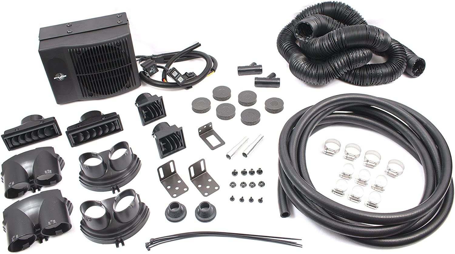 Stratos SCP5200 Cabin Heater Kit with 5 Single Axial 12V Fan /& Straight Grill Cover