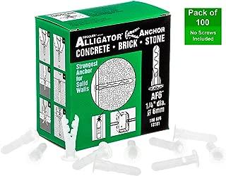 TOGGLER ALLIGATOR AF6 Flanged Anchor, Polypropylene, Made in US, For #6 to #12 Fastener Sizes (Pack of 100)