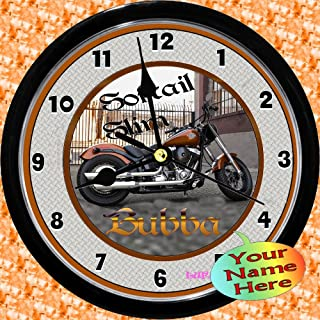 Personalized Harley Davidson Softail Slim Wall Clock