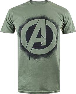 55936f26ce6 Marvel Stencil Logo Camiseta de Manga Corta para Hombre