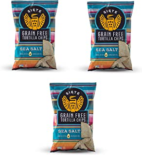 Siete Sea Salt Grain Free Tortilla Chips, 5 oz bags, 3-Pack