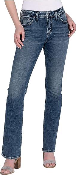 Avery High-Rise Curvy Fit Slim Bootcut Jeans L94627SDG332