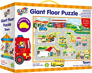Galt Toys Giant Floor Puzzle Town, Jigsaw and Road Track for Children