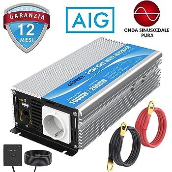 Inverter sinusoidale Dometic 9600002603 SinePower DSP 212 150 W 12 V Presa Mobile per Viaggiare