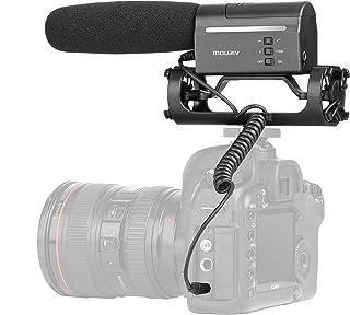 Mouriv VMC355 Video Condenser Shotgun Micrófono Fotografía profesional Micrófono Grabador en la cámara Micrófono para Canon EOS T6i Nikon D3300 Sony A9 Pentax DSLR Cámaras para Vlogging Youtube